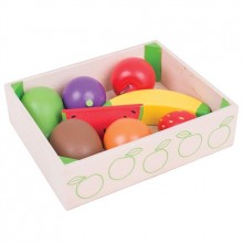 Bigjigs Toys Dřevěné hračky - Krabička s ovocem