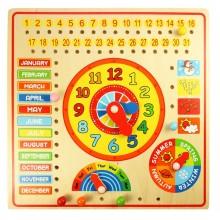 Bigjigs Toys Kalendář s hodinami