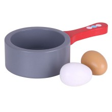 Bigjigs Toys Dřevěné hračky - Pánev a vejce
