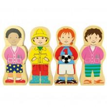 Bigjigs Toys Dřevěné puzzle národnosti