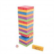 Bigjigs Toys dřevěné hry - Barevná Jenga