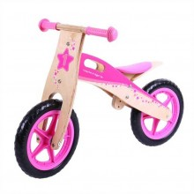 Bigjigs Toys Dřevěné odrážedlo růžové