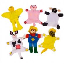 Bigjigs Toys Prstoví maňásci sada farma