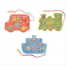Bigjigs Toys Dřevěný magnetický labyrint 1ks