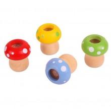 Bigjigs Toys Dřevěný kaleidoskop hříbek 1ks