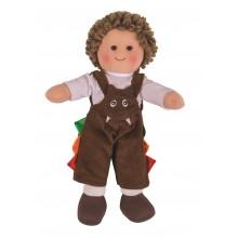 Bigjigs Toys Látková panenka Jack 28 cm