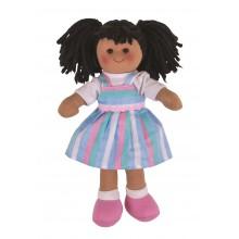 Bigjigs Toys látková panenka Kira 25 cm