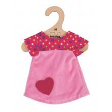 Bigjigs Toys Růžové tričko se srdíčkem pro panenku 34 cm
