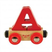 Bigjigs Rail vagónek dřevěné vláčkodráhy - Písmeno A