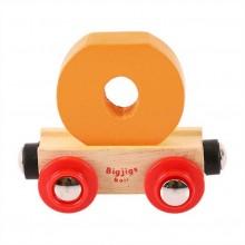 Bigjigs Rail vagónek dřevěné vláčkodráhy - Písmeno O