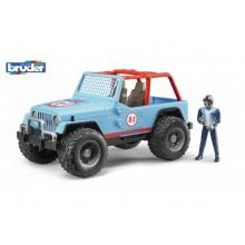 Bruder Modré auto jeep s řidičem