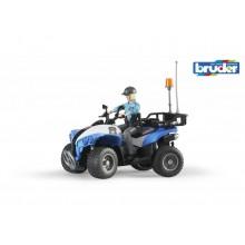 Bruder modrá čtyřkolka policie s figurkou