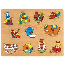 Dřevěné vkládací puzzle hračky