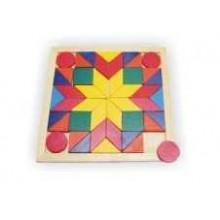 Dřevěná mozaika čtverec