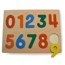 Dřevěné vkládací puzzle číslice