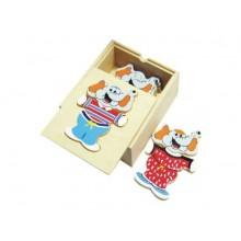 HJ Toys Oblékací puzzle šatní skříň slon