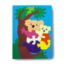 Dřevěné vkládací puzzle koala