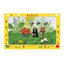 Dino Papírové puzzle Krtek na výletě 15 dílků