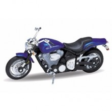 Welly - Motocykl Yamaha Road Star Warrior (2002) model 1:18 modrá