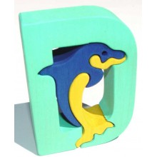Fauna Abeceda písmenko D delfín