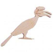 Woodcraft Dřevěné 3D puzzle pták hornbill