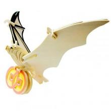 Woodcraft Dřevěné 3D puzzle netopýr