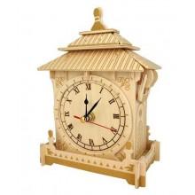 Woodcraft Dřevěné 3D puzzle hodiny