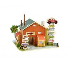 Robotime dřevěná skládačka Americký motel