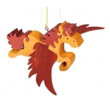 Fauna Dřevěný létající kůň na zavěšení