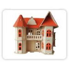Woodcraft Dřevěné 3D puzzle dům s verandou