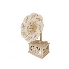 Woodcraft Dřevěné 3D puzzle gramofón