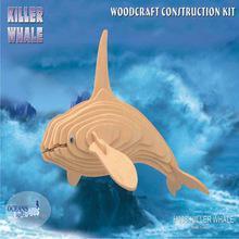 Woodcraft Dřevěné 3D puzzle kosatka