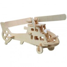Woodcraft Dřevěné 3D puzzle vrtulník
