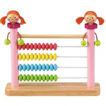 HJ Toys Dřevěné počítadlo holčička