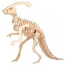 Woodcraft Dřevěné 3D puzzle malý Parasaurolophus