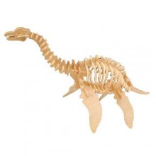 Woodcraft Dřevěné 3D puzzle velký Plesiosaurus