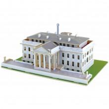 Robotime Dřevěné skládačky 3D puzzle Bílý dům - poškozený obal