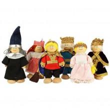 Bigjigs Toys Set královské rodinky 6ks