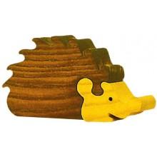 Dřevěné vkládací puzzle z masivu - Velký ježek