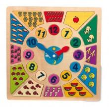 Small Foot Vkládací výukové puzzle nauč se hodiny