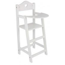 Small Foot Dřevěná židlička pro panenky bílá