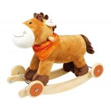 Dřevěný houpací kůň se zvuky Nele