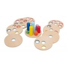 Small Foot Logická dřevěná nasouvací hra