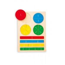 Školní pomůcky - Dřevěné puzzle zlomky