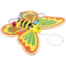 Small Foot Motorický labyrint tahací motýl