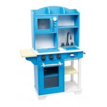 Dětská dřevěná modrá kuchyňka