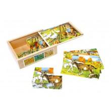 Small Foot Dřevěné obrázkové kostky kubusy Venkov