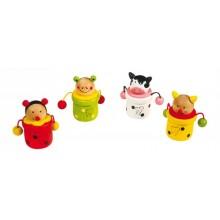 Dřevěné hračky - Krabička na mléčné zoubky zvířátka