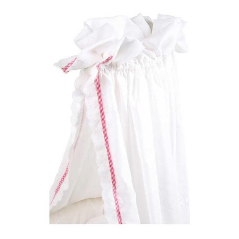 Small Foot Dřevěná postýlka pro panenky s nebesy Romantic