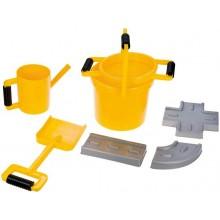 Pískový set, cestář, 7dílů, žluto-šedý